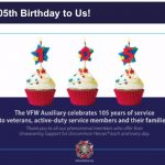 115th anniversary for VFW Auxiliary