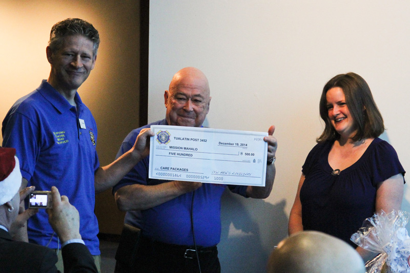 Men's Auxiliary Donates $500.00 for Troop Care Packages