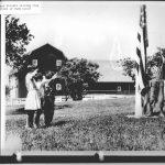 Howard Pollet Raising Flag