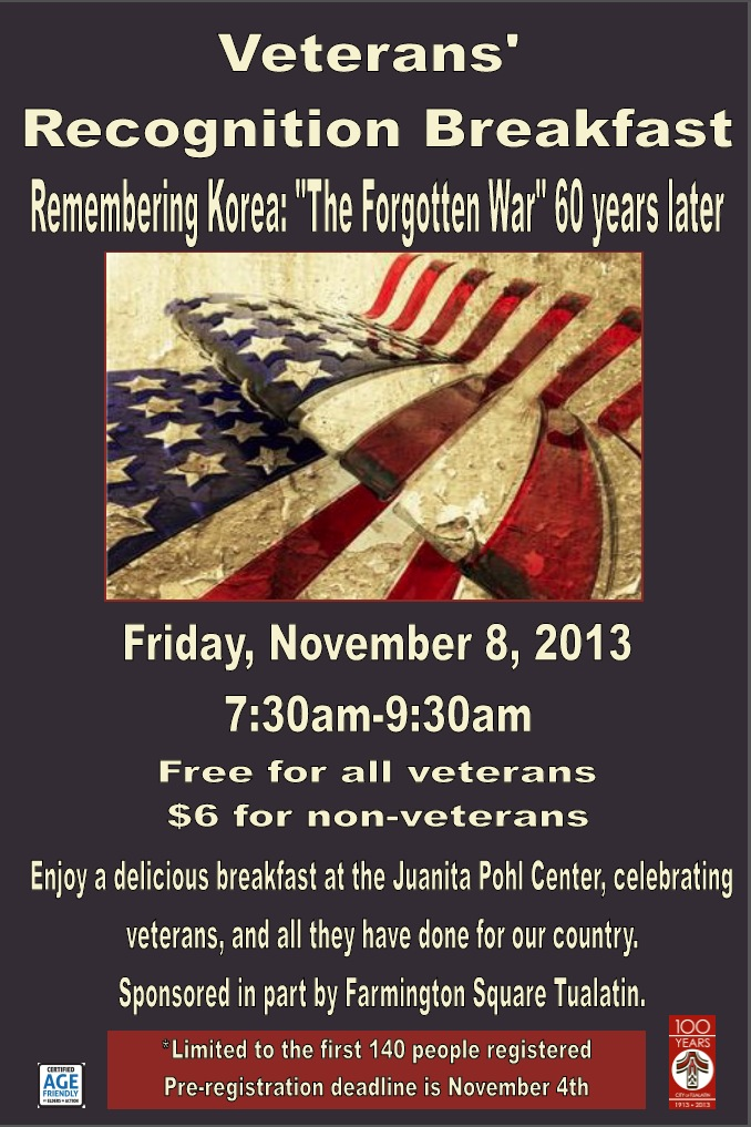 Veteran's Recognition Breakfast