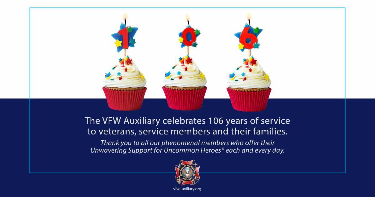 VFW Auxiliary Celebrates 106 Years