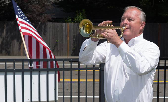 Over 100,000 Northwest residents watched our honored vet retire his horn, from their living rooms