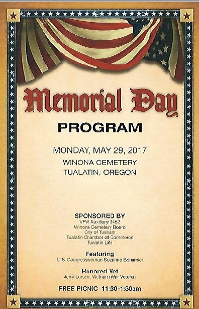 2017 Memorial Day Program
