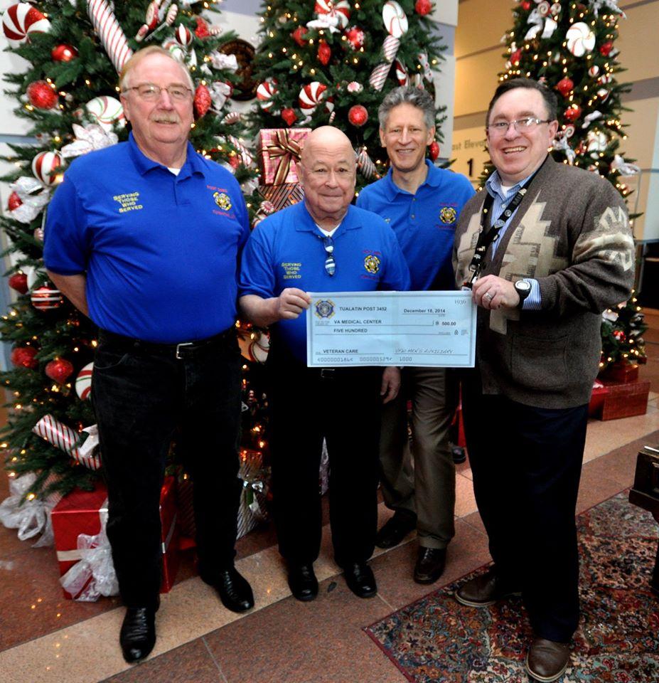 Men's Auxiliary Donates $500.00 to VA Portland